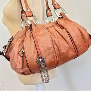 B. Makowsky Baguette Leather Shoulder Bag